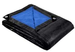 Тент защитный 2 х 3 м «политарп 280», с люверсами (тарпаулин, синий/че